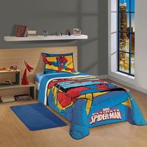 Edredom Spider Man Ultimate Solteiro 1,5x2,00m Lepper