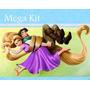 Kit Imprimible Enredados Rapunzel Diseñá Tarjetas Cumpleaños