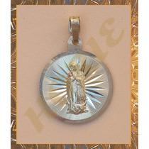 Hermosa Medalla Mediana Virgen De Guadalupe Plata .925 Md