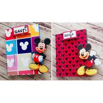 Portaretratos Souvenirs Mickey Mouse C/vidrio 6x9 Cm X10 U