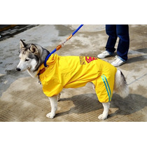 Capa De Chuva Superman Cachorro Grande Impermeável Tam 3g