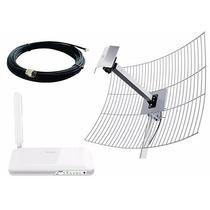 Kit Roteador Internet 4g Antena 2600mhz 20dbi Cabo Wifi Lte