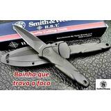 Faca Tática Militar Pescoço Smith & Wesson Swhrt3t Original