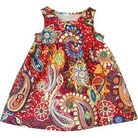 Vestido De Nena; Mandala; De Diseño; Estampado; Blau Mini