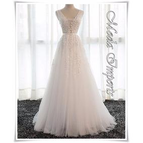 Vestido De Noiva Estilo Princesa Com Renda Jadors Importado