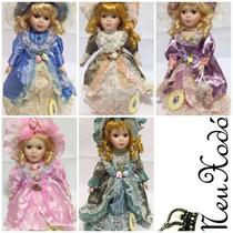 5 Boneca De Porcelana Festa Casa Lembrancinha 30 Cm Anna