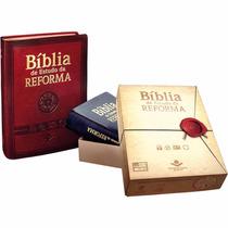 Biblia De Estudo Da Reforma Grande Índice Vinho Com Caixa