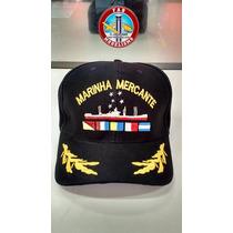 Boné Marinha Mercante Brasil Com Abs Bordadas