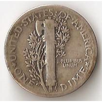 Estados Unidos, Dime, 1941. Plata. Il Guerra. Vf-