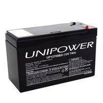 Bateria Unipower Selada 12 Volts 7a Alarmes, Cerca, Nobreak
