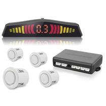 Sensor Estacionamento Ré Gol G5 4 Pontos Branco Display Led