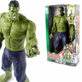 Boneco Articulável Grande Avengers Vingadores Hulk Som Luz