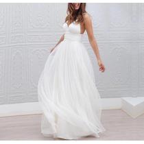 Vestido De Noiva Lindo Estilo Boho Chique