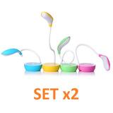 Oferta! Set X2 Lámparas Led Diseño Fruta Usb Recargable