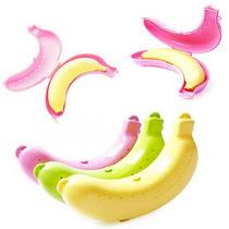 Estuche Porta Cambur Plástico Fruta Juvenil Colegio Dieta