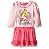 Bello Vestido Disney De Princesa Cenicienta Rosado Tallas 5