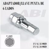 Llave Adaptador Seguro Punta 6 Lados Para Tuercas De Rueda