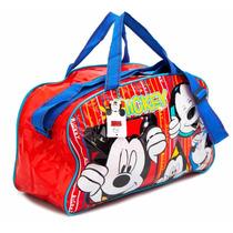 Bolso Mickey Mouse Disney Original Línea Premium Pvc