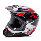 Capacete Fly Kinetic Infantil Motocross E Bicicross Vermelho