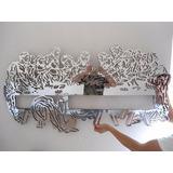 Quadro Santa Ceia Escultura Parede Espelho Acrílico 1,30 M