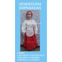 Disfraz Vendedora Empanadas Negrita Ambulante Talle 4/6/8/10