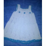 Vestido De Niña Tejido A Crochet, 8 A 12m Elaborado A Mano