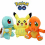 Combo Pokemon Go Peluche Pikachu + Charmander + Squirtle X3