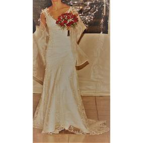 Vestido De Noiva Branco Espetacular/ 1 Único Uso