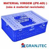 Caixa Transporte Frango Vivo Cor Branca (material Virgem)
