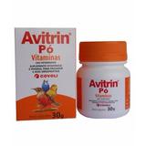 Avitrin Pó Vitaminas 30g Aves E Pássaros Ornamentais