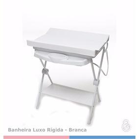 Banheira Galzerano Luxo Rígida Com Suporte E Trocador Branca