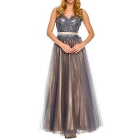 Vestido De Fiesta Juliet Modelo 593 # Xs Color Grey