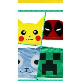 Touca Animes Pikachu/ Happy/ Naruto/ Crepper/ Deadpool