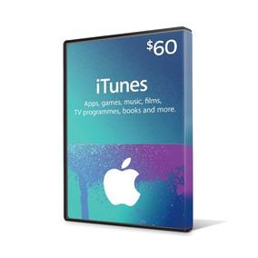 Turbine Seu Ipod/iphone! Itunes Gift Card De $ 60 Dólares Us