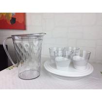 Kit Tupperware Policarbonato Jarra+copos+tigela Conjunto 6pç