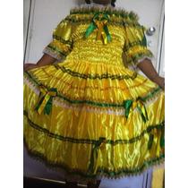 Vestido Da Rainha Do Milho Adulto Tam P Enfeitado