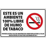 Afiche Este Es Un Ambiente 100% Libre Del Humo De Tabaco
