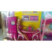 Barbie Hermoso Set Cocina Recamara Y Baño