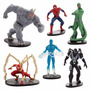 Spider-man - Set 6 Figuras (disney Store) Original