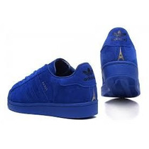 Adidas Superstar Paris Azul Originales Gamuza London Shangh