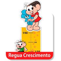 Adesivo Parede Régua Turma Monica Cebolinha Quarto Criança