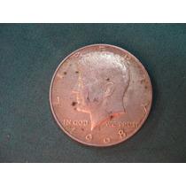 Moneda Half Dollar 1968, Estados Unidos, Km# 202.a De Plata