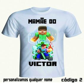 Kit Aniversário Minecraft 7 Camisetas Personalizadas