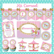Kit Cumpleaños Carrusel - Calesita Nena