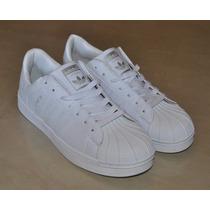 Kp3 Zapatos Adidas Superstar Blancos All White 36 Al 44