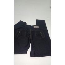 Calça Legging Cotton Jeans Preto Tecido Grosso Qualidade