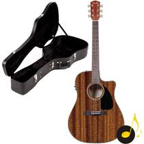Violão Folk Fender Cd60 Mahogany Dreadnought Com Case