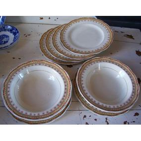 Antiguos Platitos Loza Creampetal Grindley England X 8