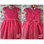 Vestido Festa Infantil Criança Princesa Daminha Rosa Pink