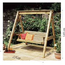 Balanço;;madeira Maciça;banco De Jardim,moveis P/jardim
